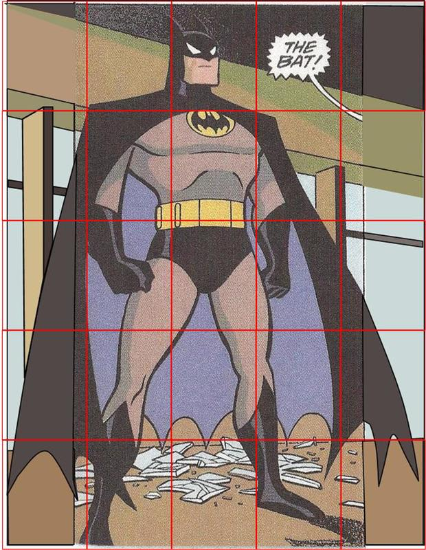 Batman quilt design