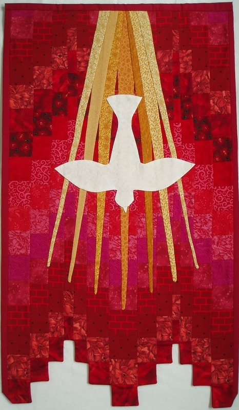 Liturgical banner for Pentecost