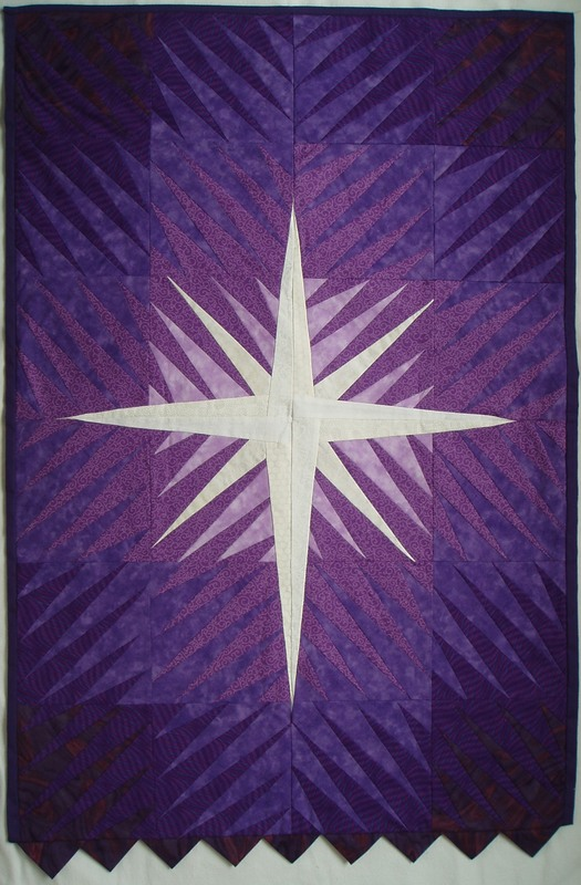 Liturgical banner for Advent or Lent
